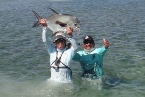 Biggest permit from the Silver Scales Fly Fishing Tournament